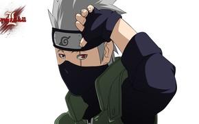 Picture mask, Naruto, Naruto, Sharingan, Kakashi Hatake