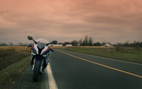 Picture bmw, road, sky, s1000rr