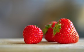 Picture berries, background, food, strawberry, strawberry, red, three, trio