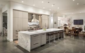Picture design, furniture, interior, kitchen, dining room