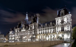 Picture night, the city, France, Paris, lights