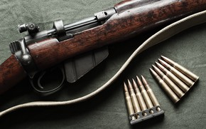 Picture weapons, cartridges, rifle, Lee-Enfield, No.1 Mk III, .303