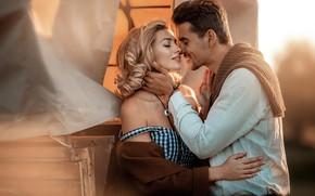 Picture girl, romance, pair, male, lovers, Irina Nedyalkova