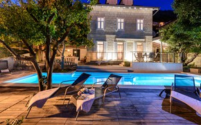 Picture Villa, the evening, pool, architecture, terrace, Croatia, Dubrovnik, Put, Dubrovník, Villa Donna Paola