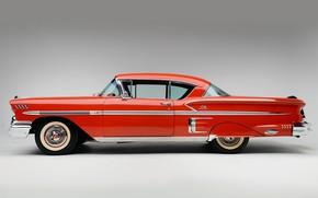 Picture Chevrolet, Wheel, Classic, Bel Air, Impala, Chrome, Classic car, 1958, Chevrolet Bel Air Impala