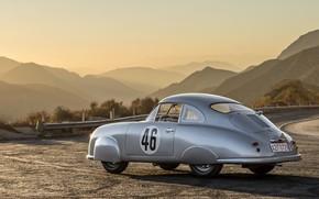 Picture Porsche, Race, Coupe, Old, Road, Vehicle, 356SL