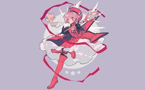 Picture background, girl, Card Captor Sakura, Sakura - collector cards