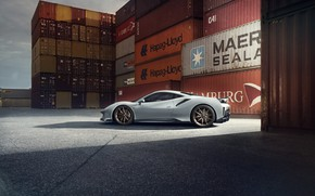 Picture machine, Ferrari, drives, containers, Novitec, 488, Pista