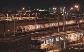 Picture night, train station, North Melbourne