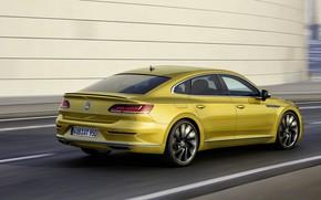 Picture road, yellow, wall, Volkswagen, 2018, R-Line, liftback, 2017, Arteon