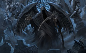 Wallpaper braid, the angel of death, Leo Hao, bard songs