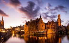 Picture panorama, Belgium, Bruges