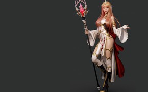Picture rendering, the game, art, costume design, Shin JeongHo, Valkyrie Connect - Lady Freya
