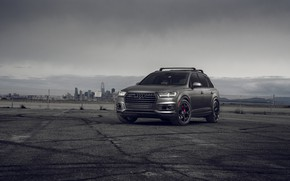 Picture audi, grey, luxury, 22 wheels