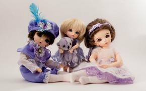 Picture background, toys, doll