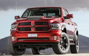 Picture red, Dodge, pickup, Ram, 2017, 1500 RX Crew Cab, Militem