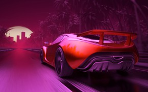 Picture road, Auto, Neon, Machine, Graphics, Art, Neon, Electronic, Rendering, Synthpop, Darkwave, Synth, Retrowave, Synth-pop, Sinti, …