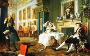 Picture genre, picture, A Fashionable Marriage. Soon after the Wedding, William Hogarth, William Hogarth