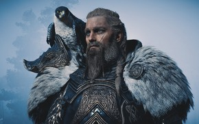 Picture Falcon, Viking, Assassin's Creed Valhalla, Eivor Varinsdottir