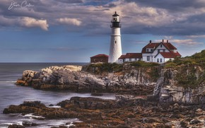 Picture the sky, landscape, nature, lighthouse, beauty