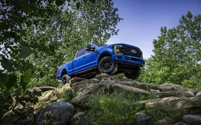 Picture blue, stones, Ford, pickup, Super Duty, F-250, Tremor, 2020, Off-Road Package, F-series