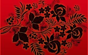Picture Red, Black, Style, Background, Khokhloma, madeinkipish, Ivan Ivanovich