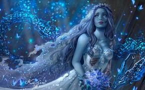 Picture girl, dragon, Emily, fantasy art, Карла Ортега, Сердце дракона