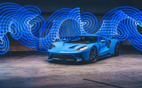 Picture Ford, supercar, Ford GT, 2017, H040, Riviera Blue
