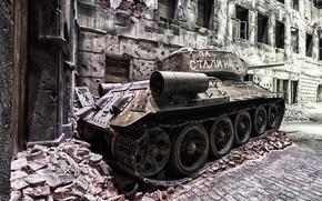 Picture Poland, tank, T-34, Gdansk