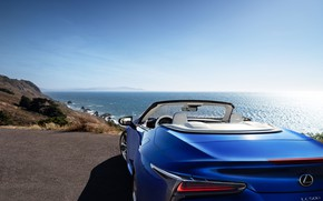 Picture coast, Lexus, Convertible, LC 500, 2021