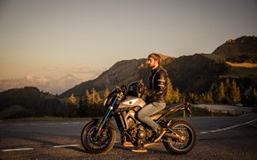 Picture road, forest, motorcycle, forest, Yamaha, road, motorcycle, ducati, Yamaha, Ducati, MT-09, mt-09
