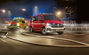 Picture fire & rescue, ambulance, 2020, transporter