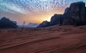 Picture Jordan, Amazing sky, Wadi Rum desert