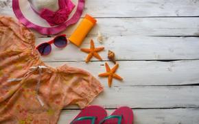 Picture sea, beach, shorts, starfish, Mood