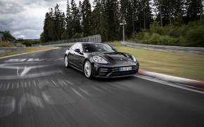 Picture black, Porsche, Panamera, tests, The Nürburgring, 2020, Nordschleife, предсерийный