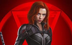 Picture look, pose, makeup, Scarlett Johansson, Scarlett Johansson, poster, hair, Black Widow, Black widow, Natasha Romanoff