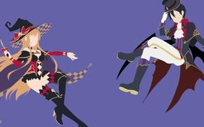 Picture girl, guy, costumes, Halloween, Sword Art Online, Sword Art Online
