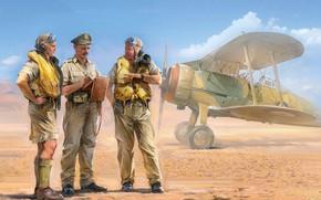 Picture UK, Raf, Gloster Gladiator, Ivan Hurenko, British Pilots In Tropical Uniform (1939-1943), British pilots