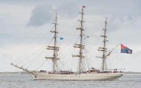 Picture ship, sailboat, horizon