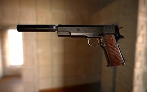Picture weapons, COLT 1911 - Project 1984, Najah Benothman, art, gun
