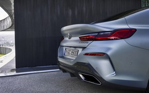 Picture coupe, BMW, Gran Coupe, the rear part, the corner of the house, 8-Series, 2019, the …