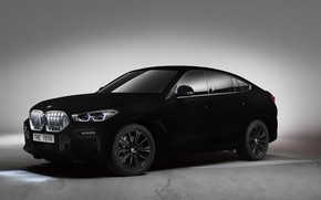 Picture BMW, BMW X6, SUV, 2019, Vantablack, BMW X6 Vantablack, BMW X6 Vantablack SUV
