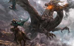 Picture dragon, fantasy, art, Mad 1984, Dragon Concept 2015