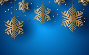 Picture snowflakes, blue, background, texture, background, snowflakes