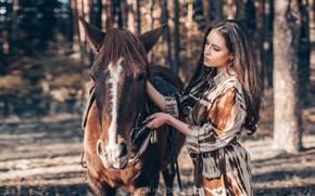 Picture girl, horse, horse, Anton Kharisov, Maria Bashmakov