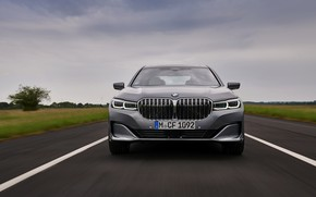 Picture BMW, sedan, front view, four-door, G12, G11, 2020, 7, 7-series, 2019, full-size