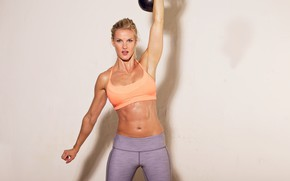 Picture piercing, blonde, fitness, weight, workout, workout, fitness, Training, abs, crossfit, CrossFit, Crossfit, pose