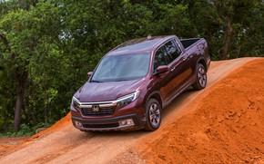 Picture the descent, Honda, pickup, Ridgeline, 2019
