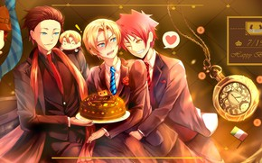 Picture cake, guys, chef, In the search for the divine recipe, Shokugeki No Soma