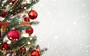 Picture snow, decoration, balls, tree, New Year, Christmas, Christmas, balls, snow, New Year, decoration, xmas, Merry, …